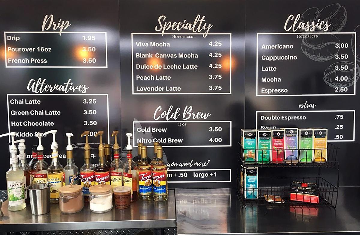 Image of Terra Coffee's menu